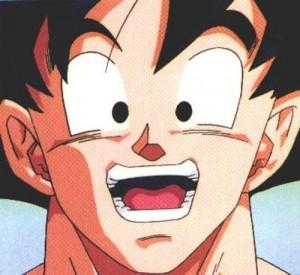 Goku sonriente