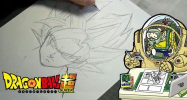 ¡Toyotaro nos Enseña Cómo Dibujar Correctamente a Goku Super Saiyajin, durante el programa JUMPolice!