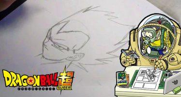 ¡Toyotaro nos Enseña Cómo Dibujar Correctamente a Vegeta, durante el programa JUMPolice!